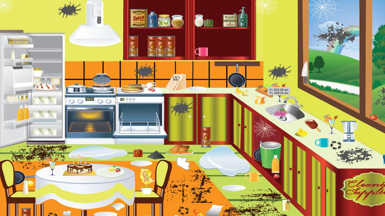 sparkling clean kitchen clipart - Clipground
