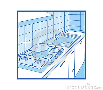 Kitchen Icon Stock Photo.