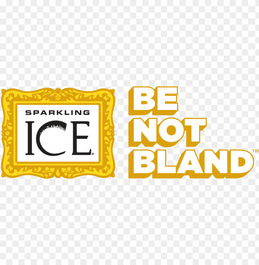 sparkling ice be not bland logo.