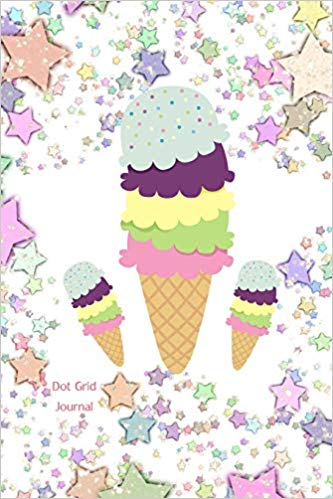 Amazon.com: Dot Grid Journal: Sparkling Ice Cream Cone Diary.