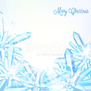 Sparkling ice crystals Clipart Image.