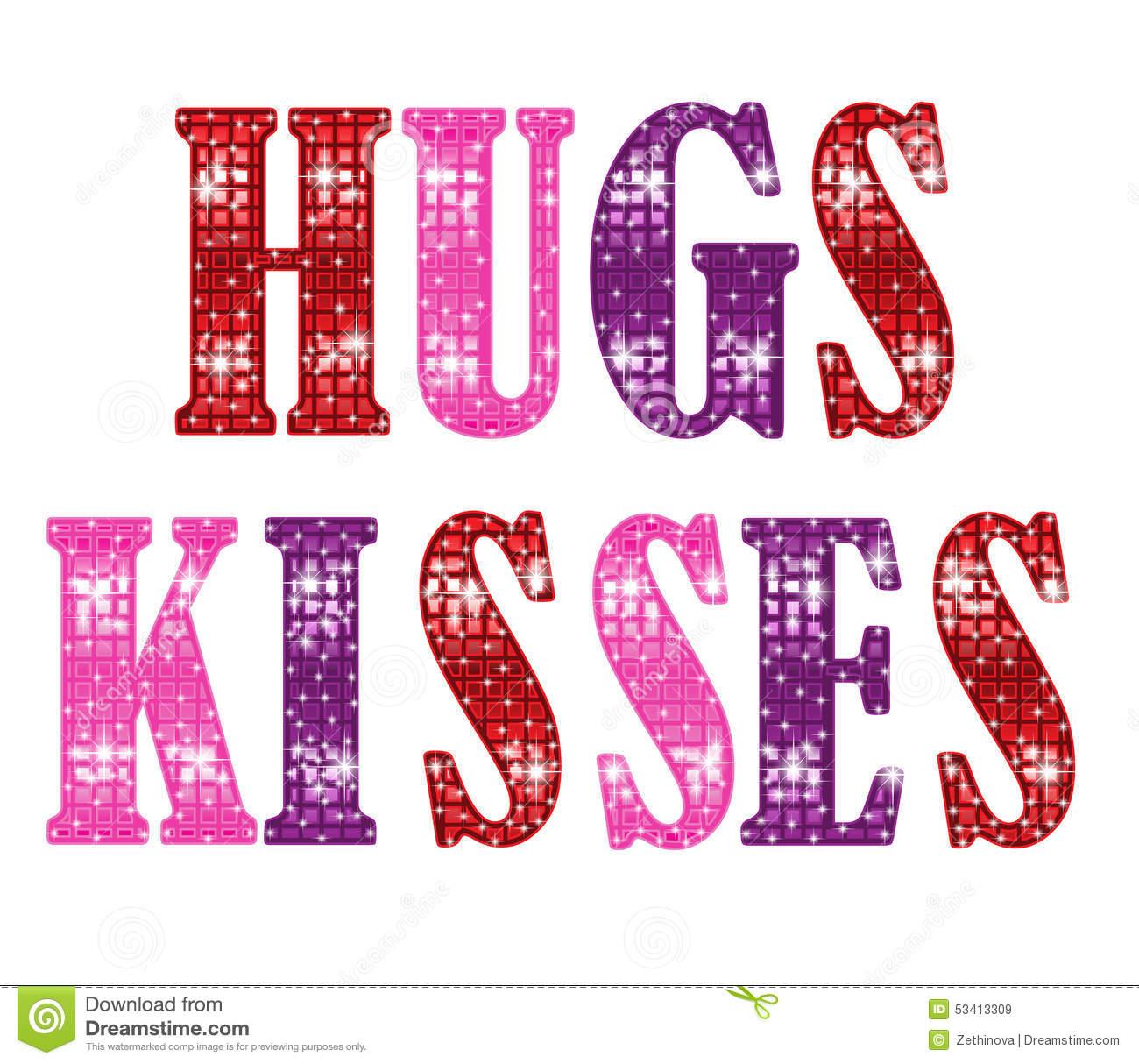 Hugs And Kisses Stock Illustration.