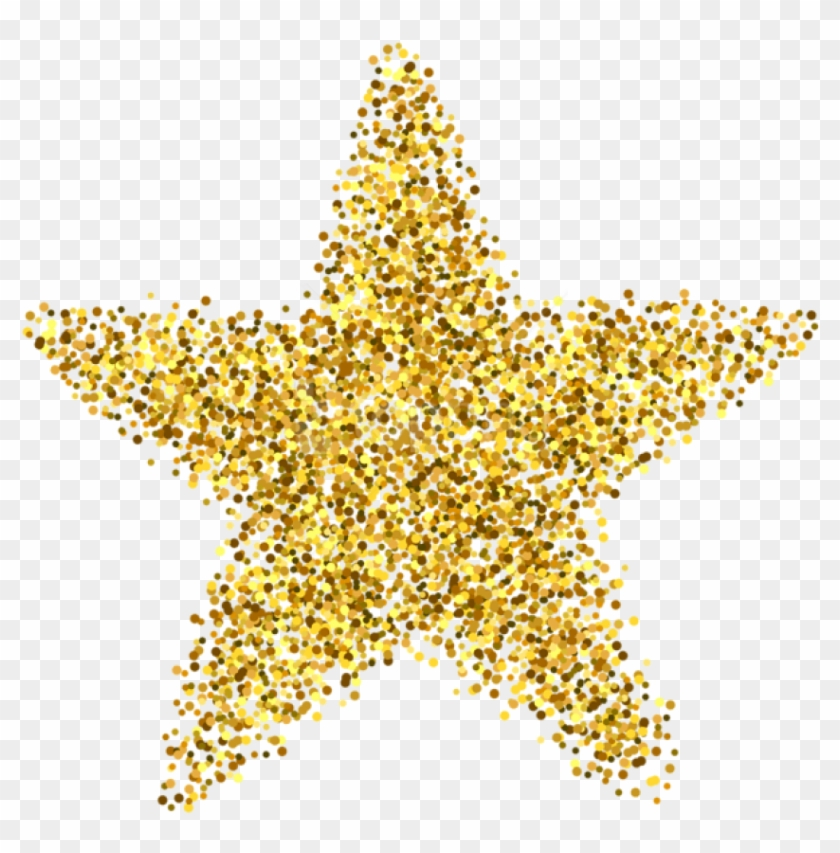 Free Download Glitter Star Decoration Clipart Photo.
