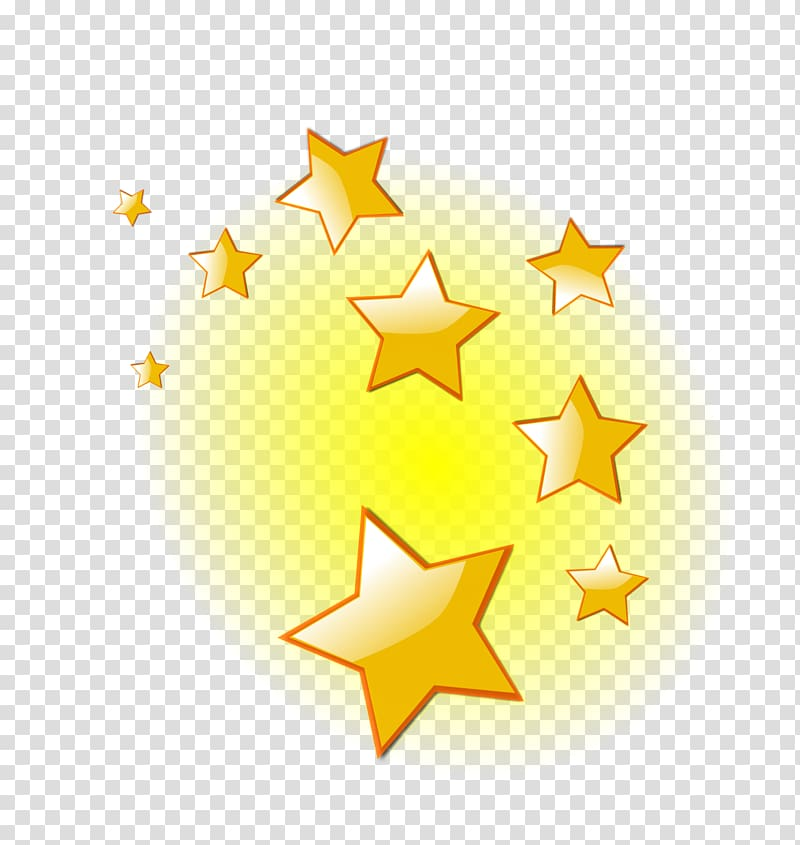 Yellow stars illustration, Star Twinkling , twinkle.