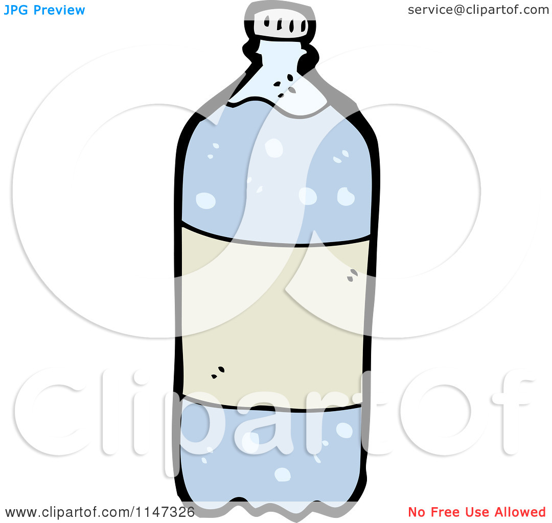 Cartoon of a Bottled Carbonated Water.