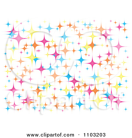 Sparkly star clipart.