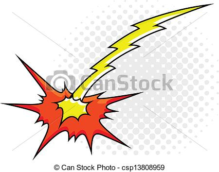 Clipart Vector of Comic Explosion Sparks Light Vector Design.