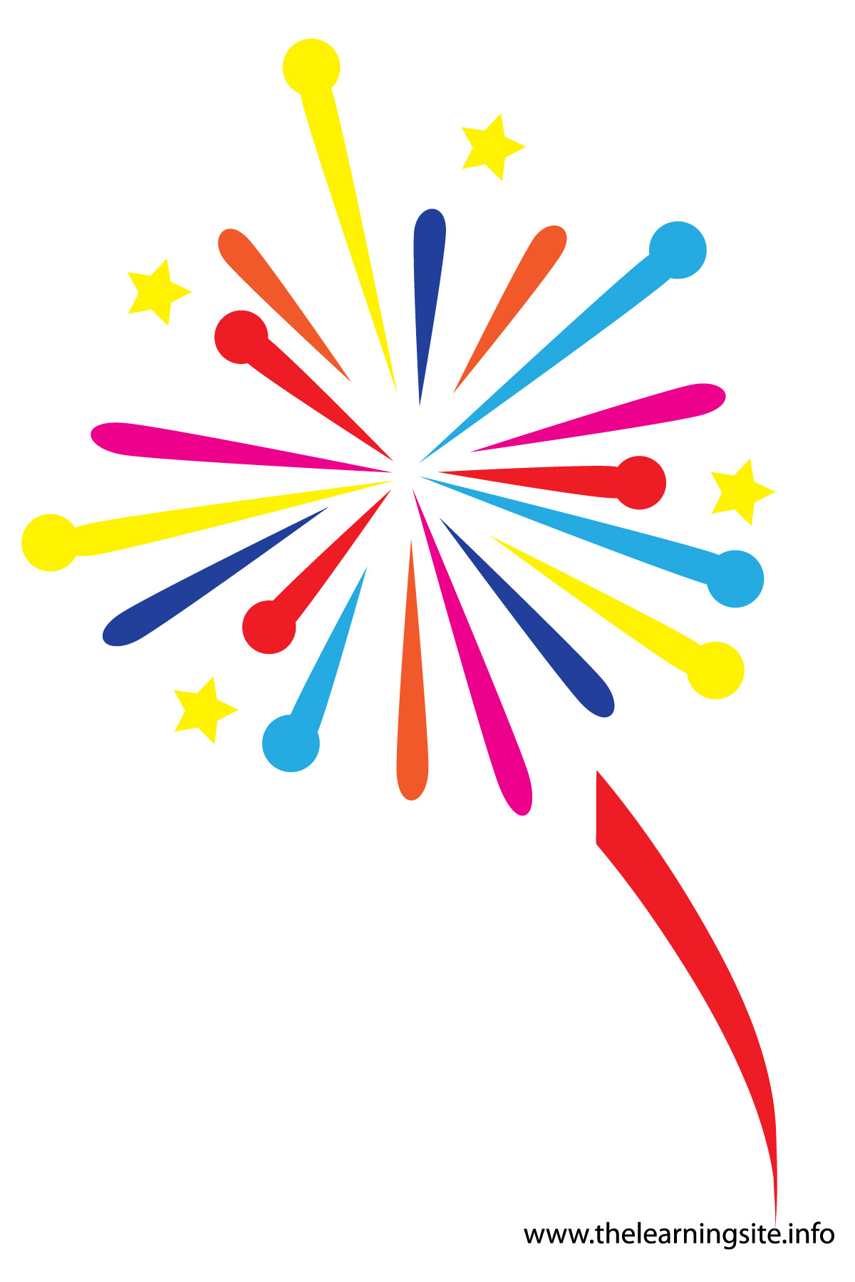 Downloadable Animated Fireworks Clipart.