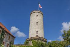 Sparrenburg Castle Miniature Model Bielefeld Germany Stock Photo.