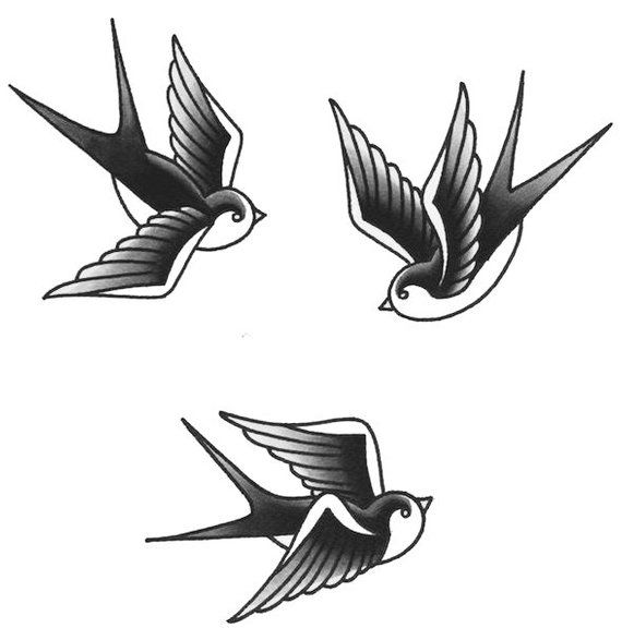 Swallow Temporary Tattoos.