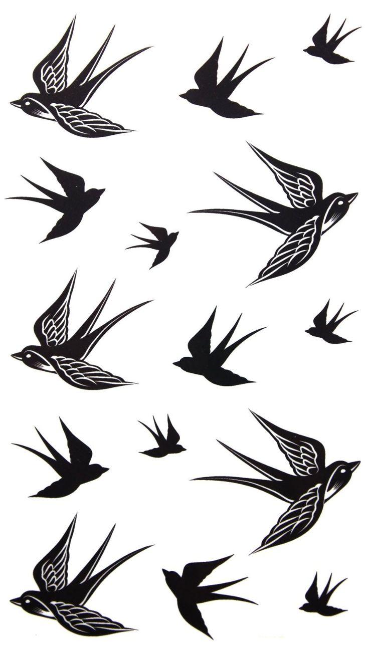 Sparrow Tattoo Silhouette.
