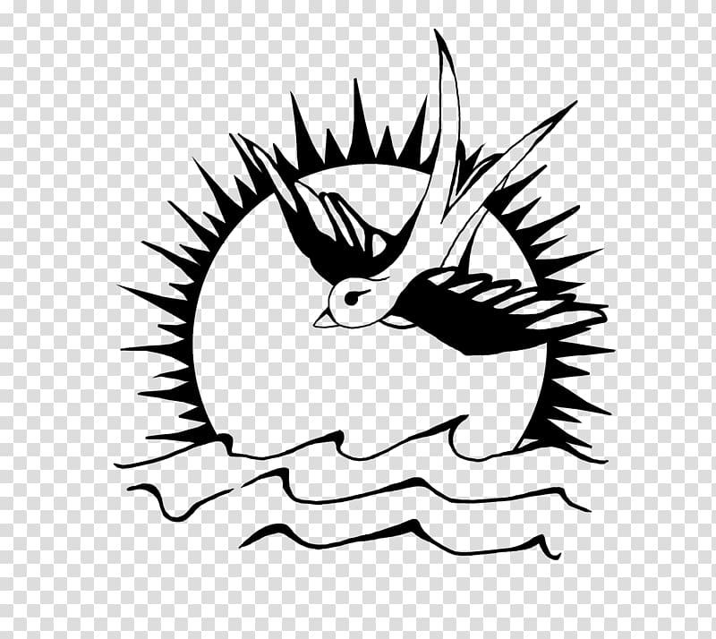Jack Sparrow Swallow tattoo, sparrow transparent background.