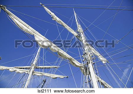 Stock Photography of Tall Ship Masts and Spars Victoria British.