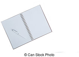 Stock Photo of Open Book, Sparse..