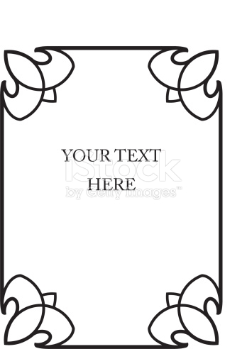 Vertical Beautiful Book Cover Vector Border Frame stock vector art.