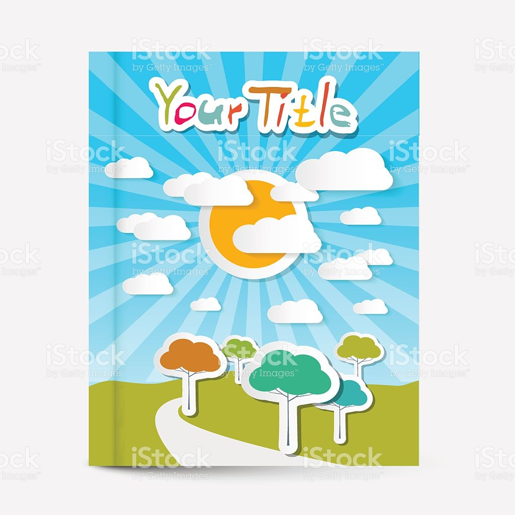 Book Or Flyer Leaflet Cover Design stock vector art 470689790.