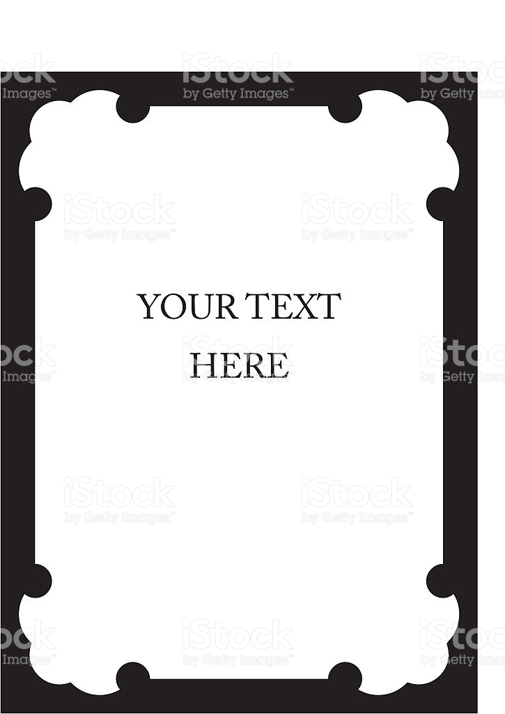 Vector Book Cover Border Frame stock vector art 469746413.