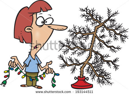 Sparse Christmas Tree Stock Photos, Royalty.