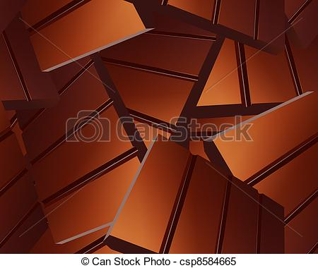 Clipart Vector of Delicious Sparse chocolate bars background.