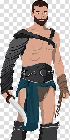 Spartacus transparent background PNG clipart.