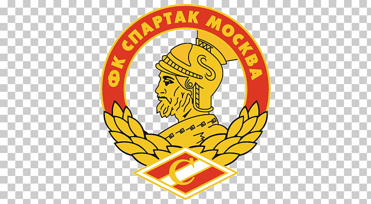 Fc Spartak Moscow Logo, yellow and orange gladiator team PNG.