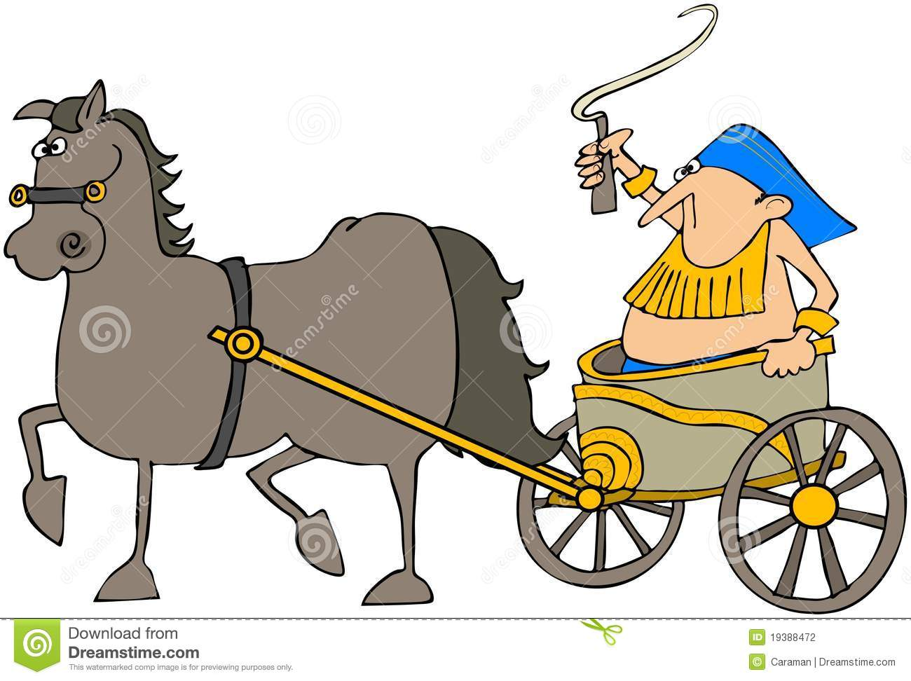 Horse Pulling A Chariot Stock Photography.