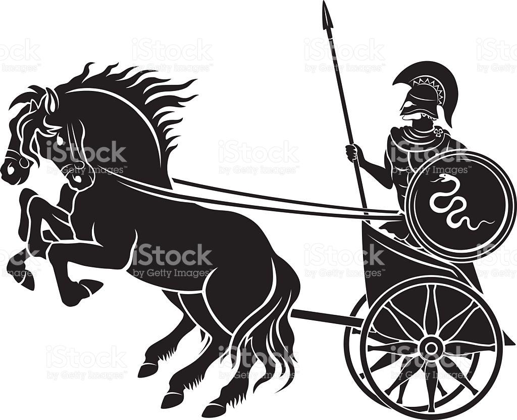 Chariot Gladiator stock vector art 504219990.