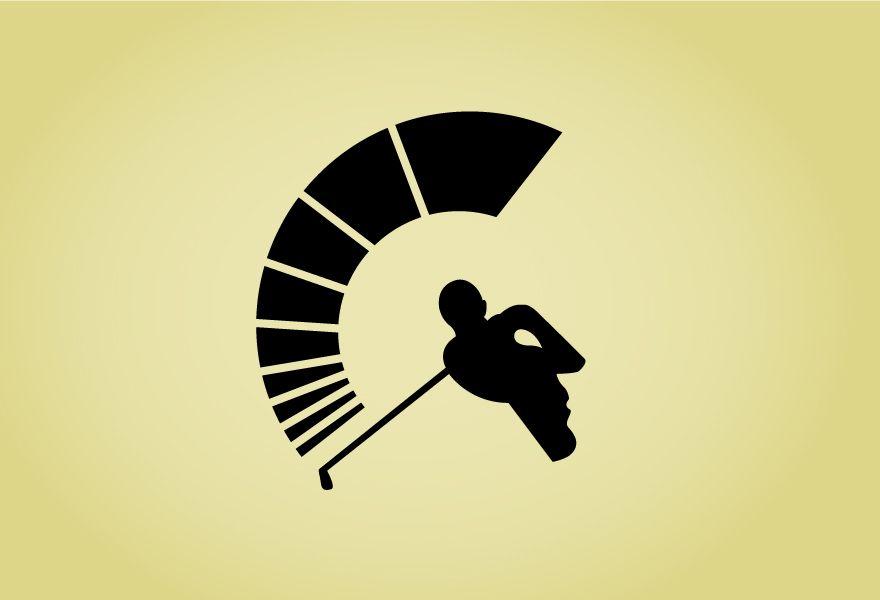 Brilliant icon for the spartan golf #logo #design.