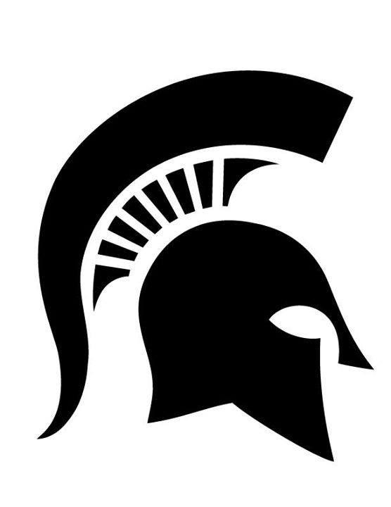 Black Spartan Head Logo.