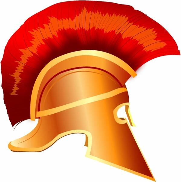 Spartan helmet illustration Free vector in Adobe Illustrator.