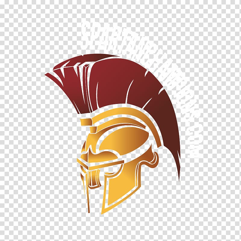 SpartanChampions.com logo illustration, Spartan army Helmet.