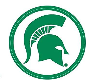 Amazon.com: 2 inch Spartan Helmet Decal MSU Michigan State.