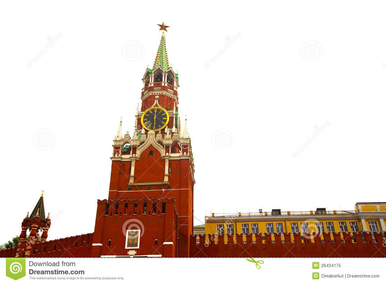 Spasskaya Tower Of Moscow Kremlin Stock Photography.