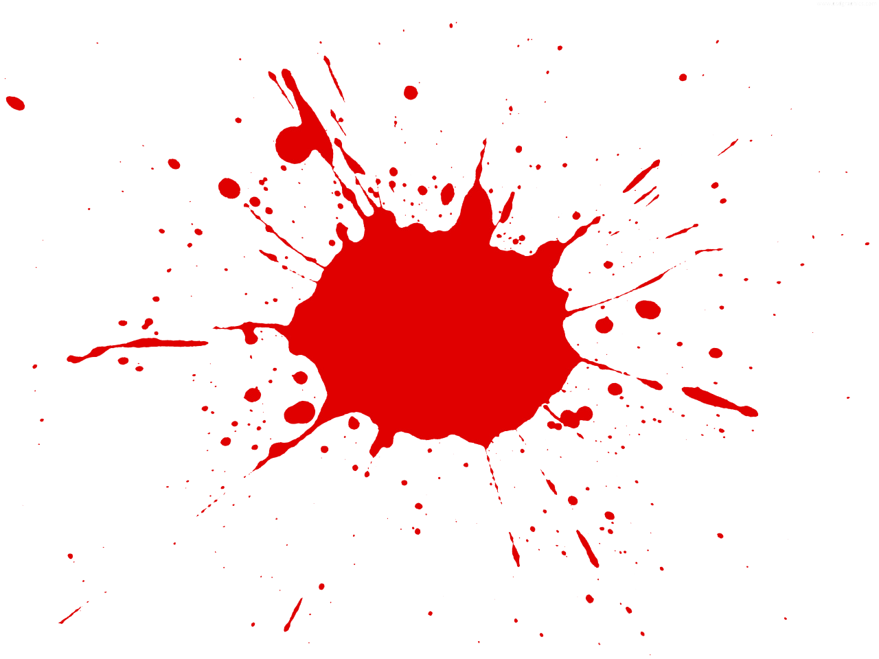 Red paint splatter clip art.