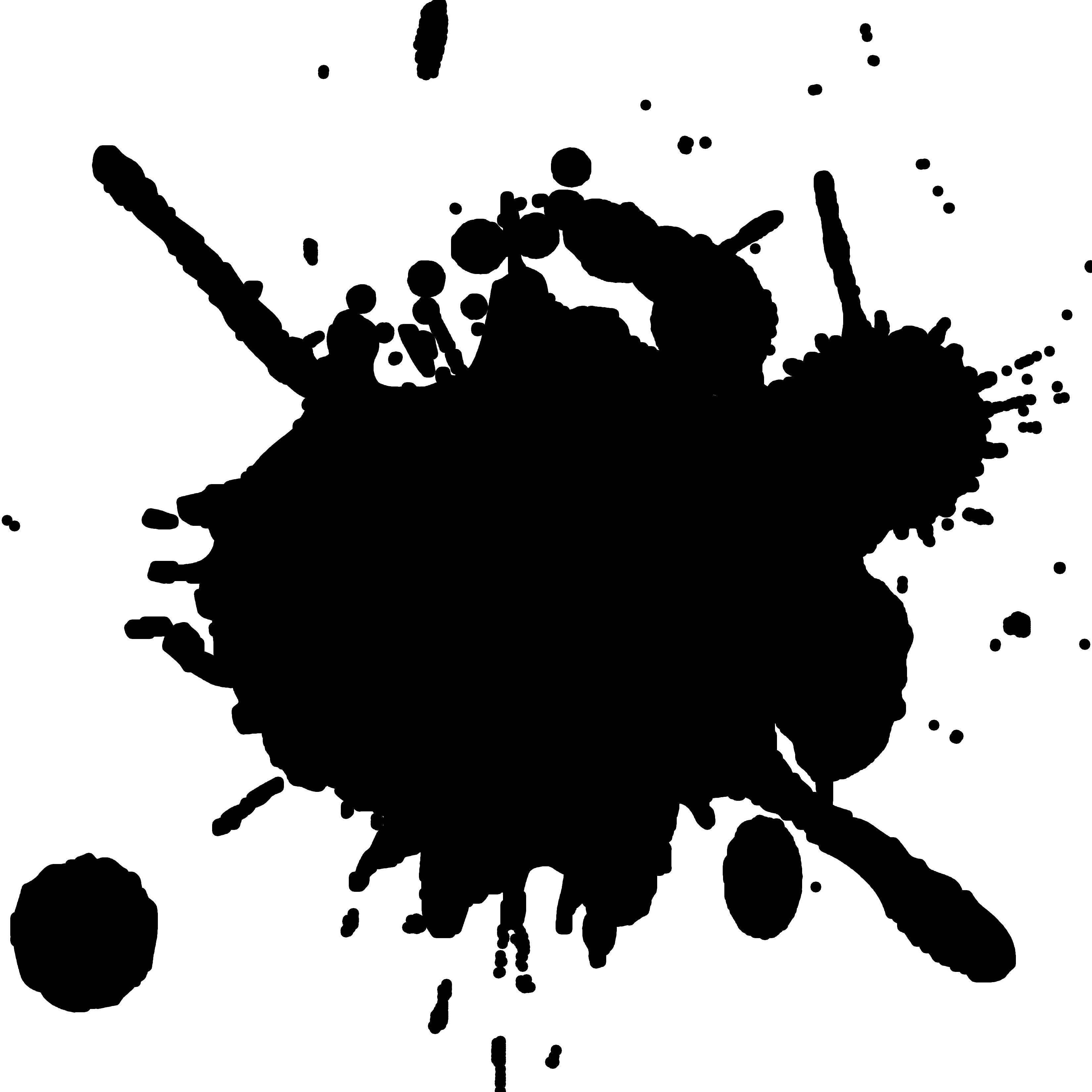 Splatter Clipart.