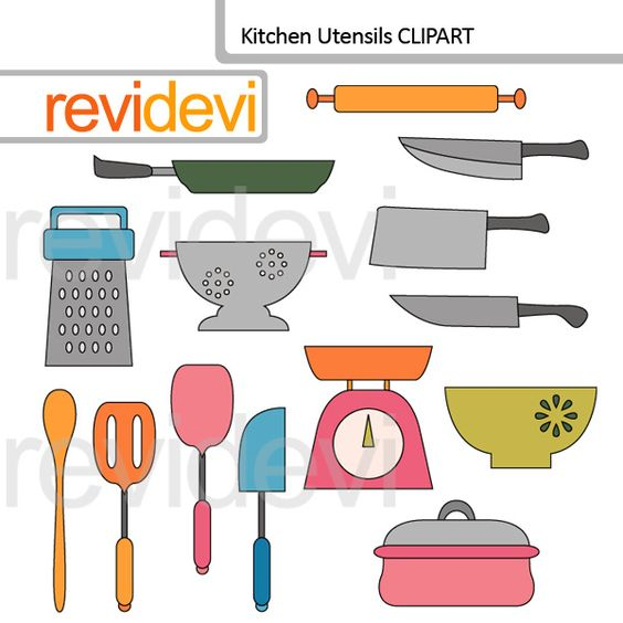 Kitchen Utensils clip art.