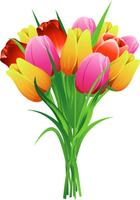 Free Clip Art Flowers Tulips.