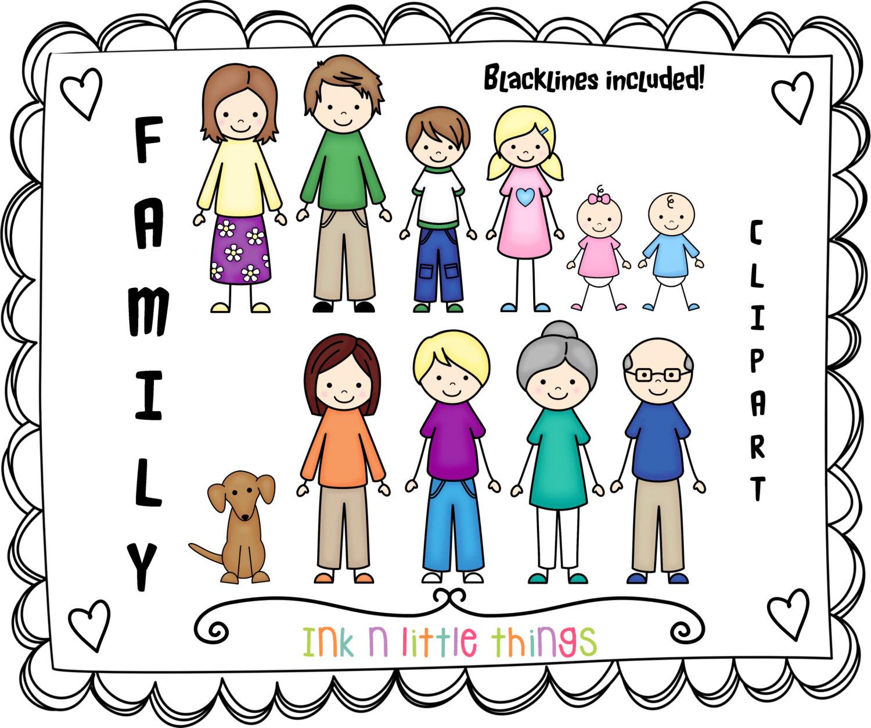 Cute Family Clipart.