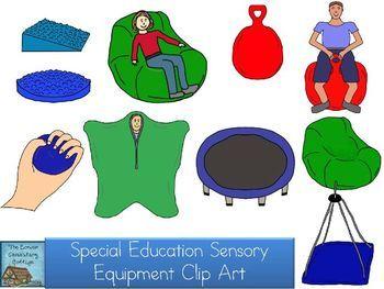 Special Education Sensory Equipment Clip Art.