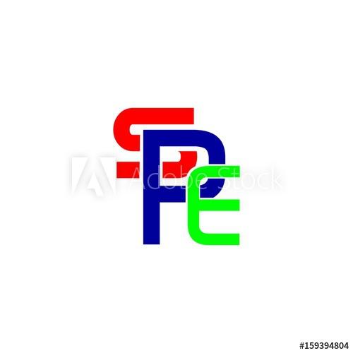 letter SPE logo vector.