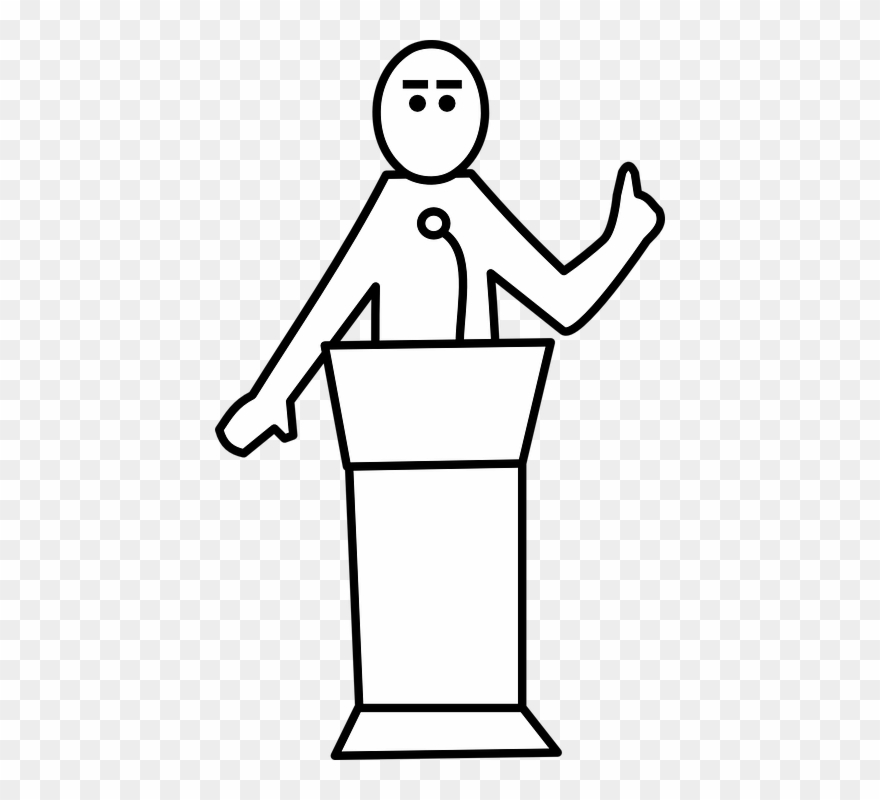 Public Speaking Clip Art Black And White.