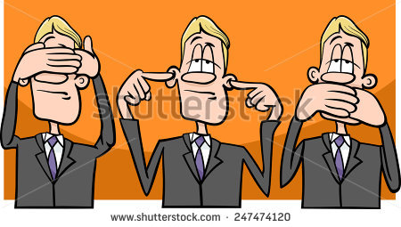 Speak No Evil Stock Vectors, Images & Vector Art.