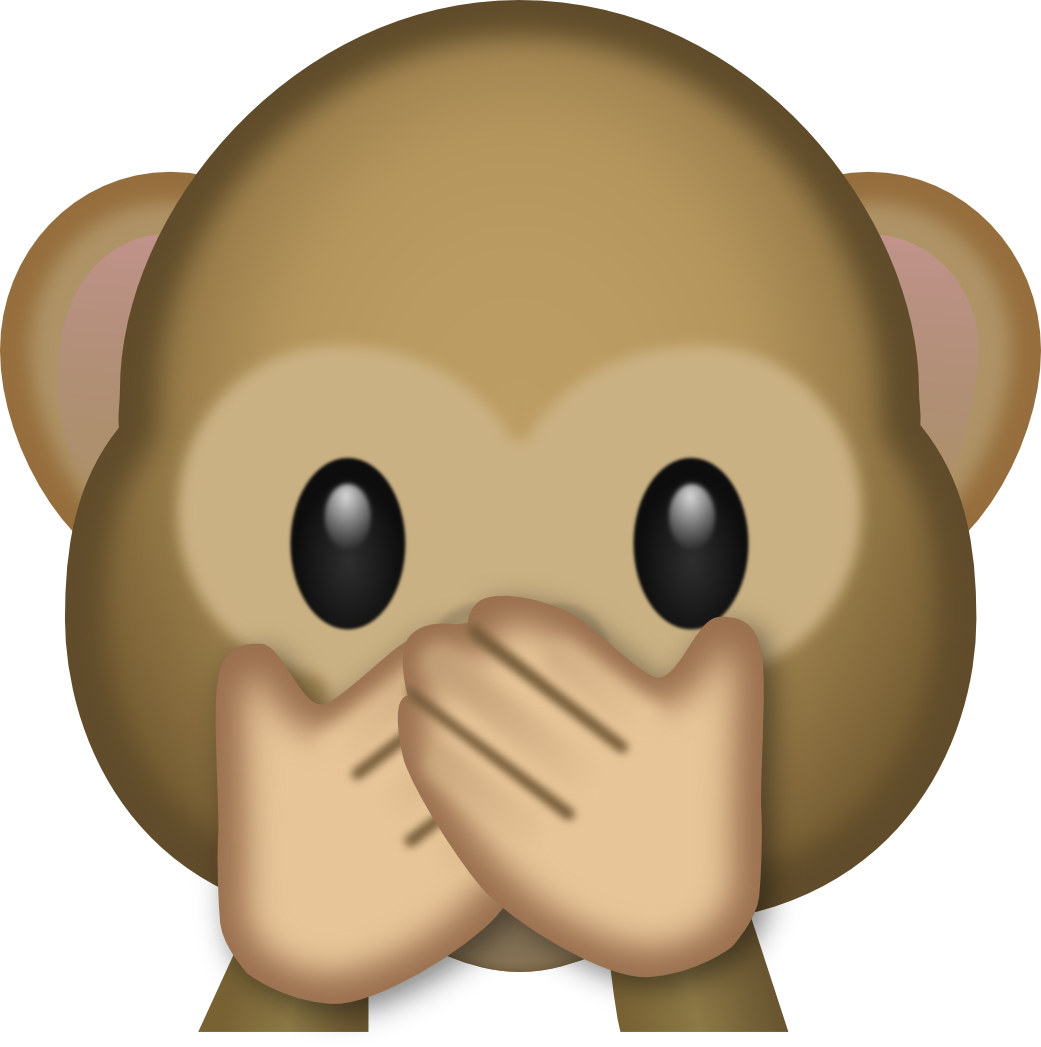 Speak no evil clipart.