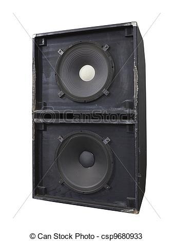 Drawings of Big Grunge Bass Speaker Box.