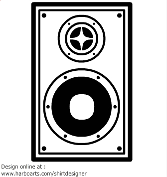 Speaker box clipart.