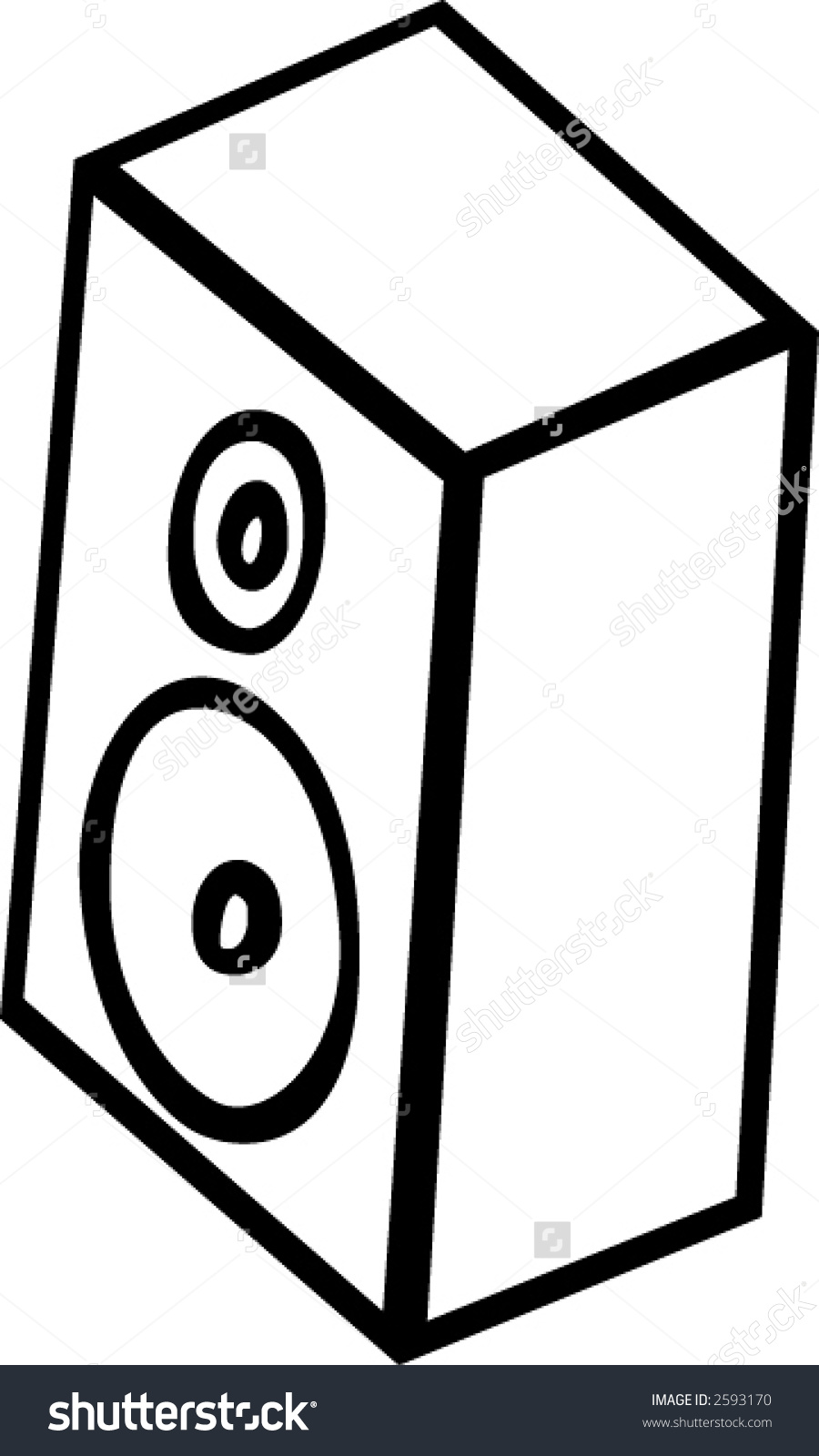 Speaker Cabinet Stock Vector Illustration 2593170 : Shutterstock.