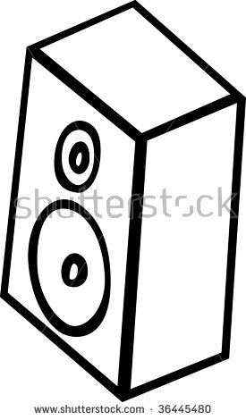 Speaker Cabinet Stock Illustration 36445480.