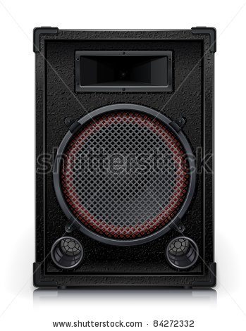 of a speaker cabinet on a white background in a vector clip art.