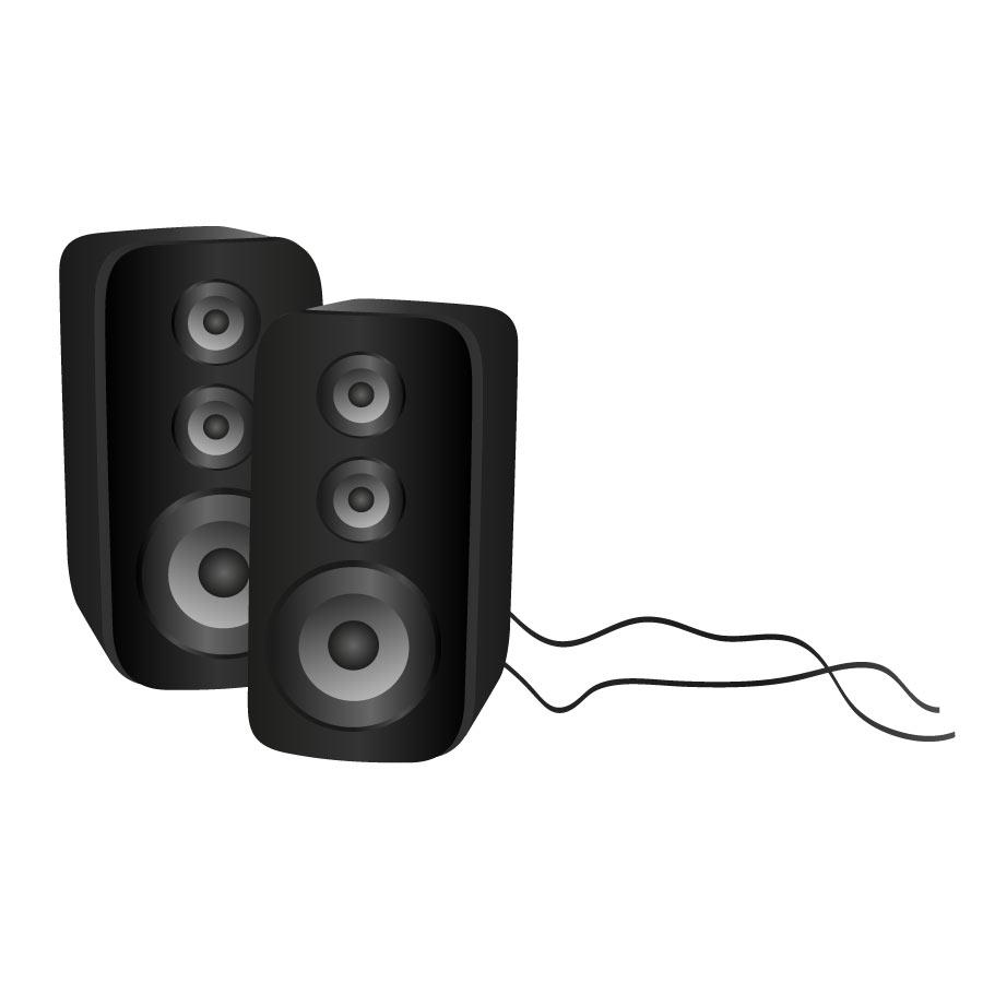 free speaker clip art.