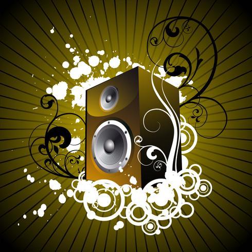 music illustration with speaker.